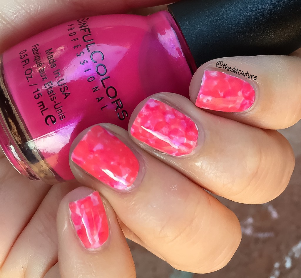 Pink Nimbus Nail Art
