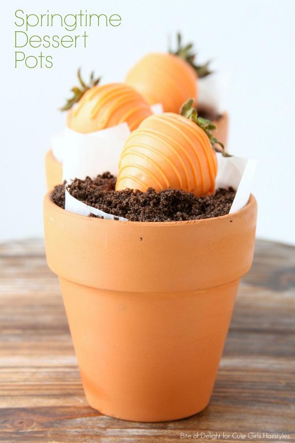 Springtime Dessert Pots