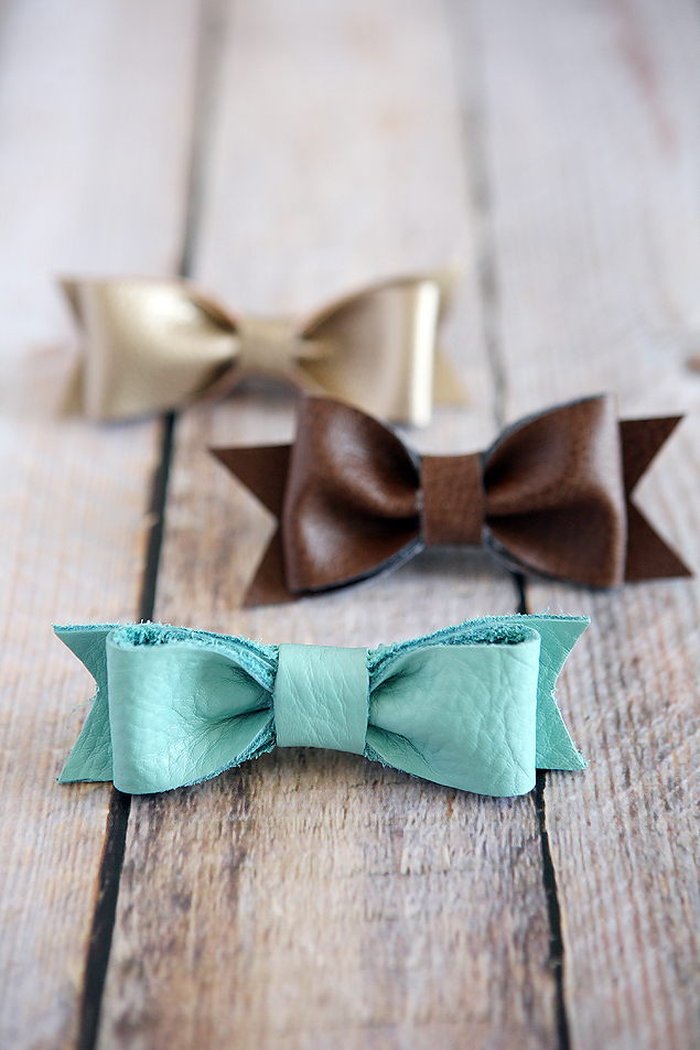DIY Leather Hair Bows | Craft