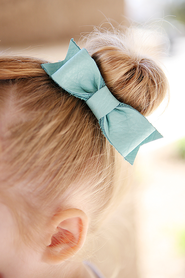 DIY Leather Hair Bows | Fashion | Beauty
