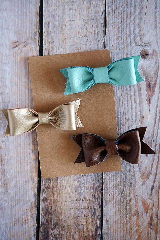 DIY Leather Hair Bows | Accessory