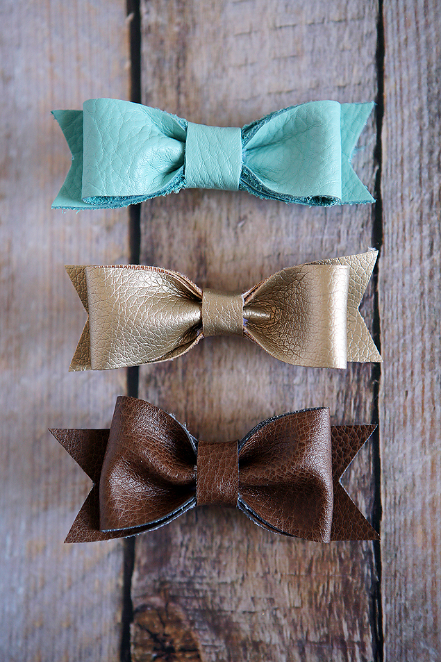 DIY Leather Hair Bows | CGH Lifestyle