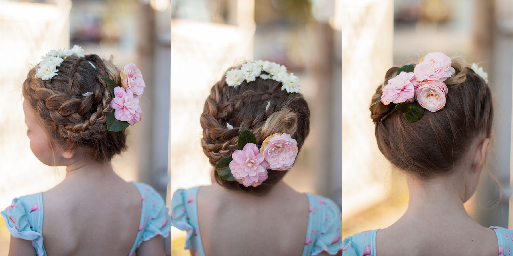 braids with flowers cute girls hairstyles