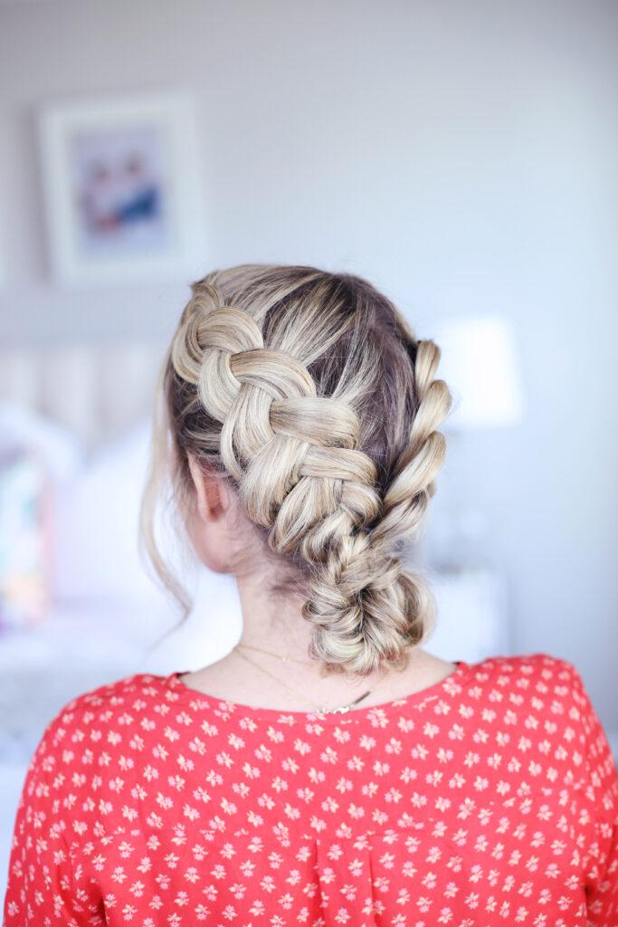 Double Dutch Fishtail Bun   Cute Girls Hairstyles