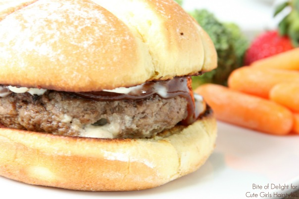 Blue Bacon Stuffed Cheeseburgers | Recipe