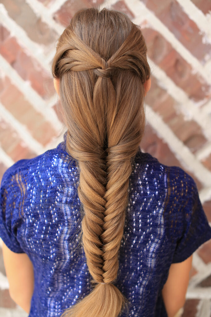Angel Wing Fishtail Combo Hairstyle