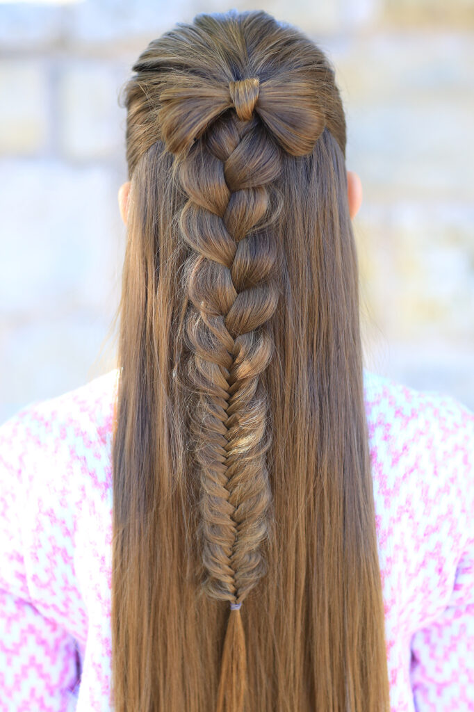 Half-Up Bow Combo   Cute Girls Hairstyles