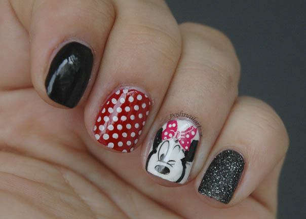 Disney Nails | Minnie Mouse