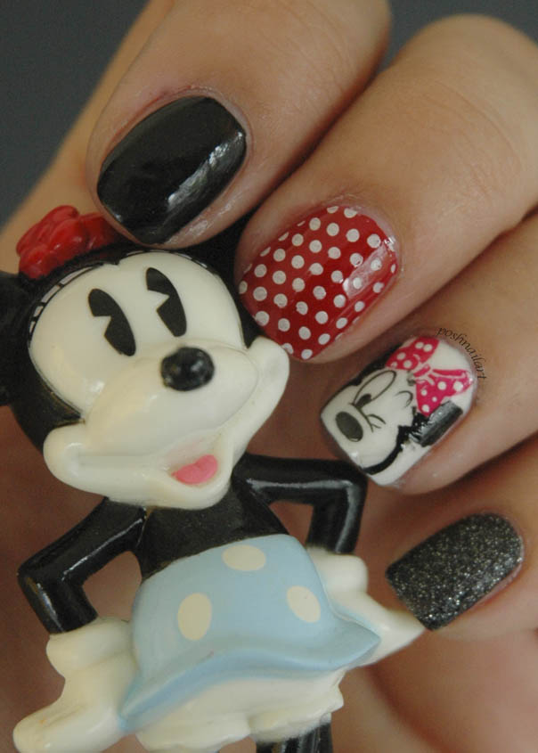 Disney Minnie Mouse Inspired Nail Art - Show Your Disney Side