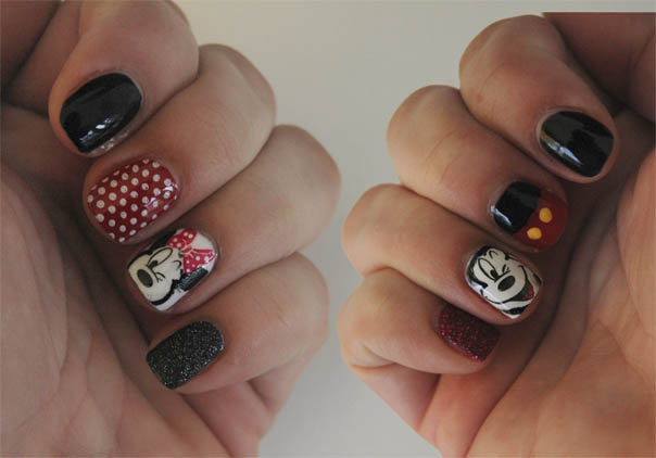 Disney Nails | Mickey & Minnie
