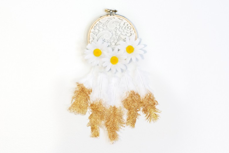 DIY Lace and Feather Dream Catcher