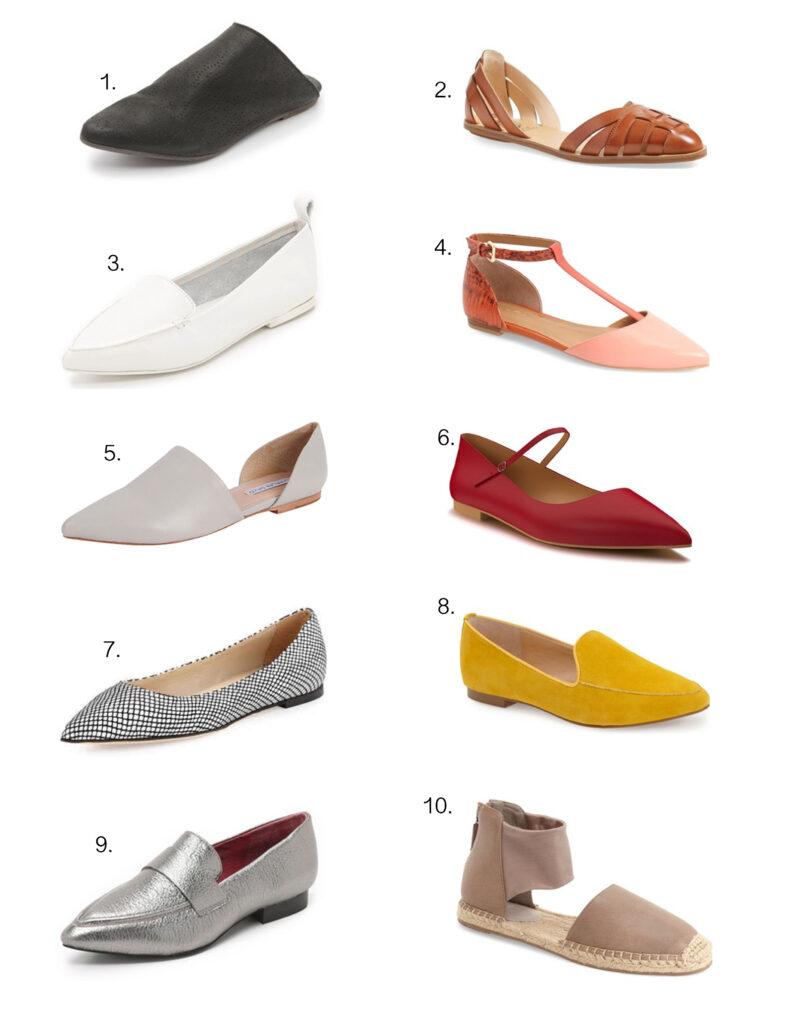 Summer flats 2016, flat shoes, ballet flats, Topshop flats, Shopbop Flats, Summer Fashion 2016.
