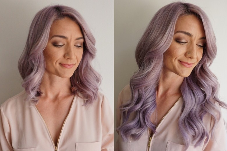 Clip In Hair | Extensions | Purple Hair