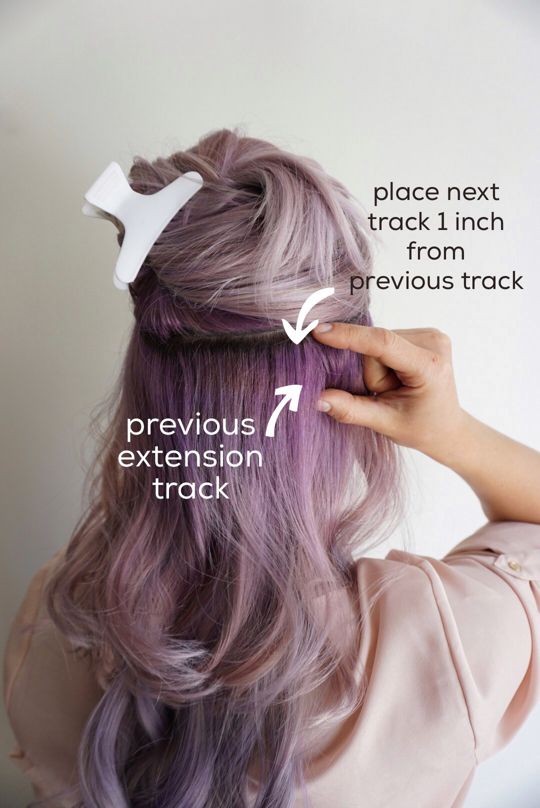 hair extensions style ideas tips for applying clip in hair extensions 5478