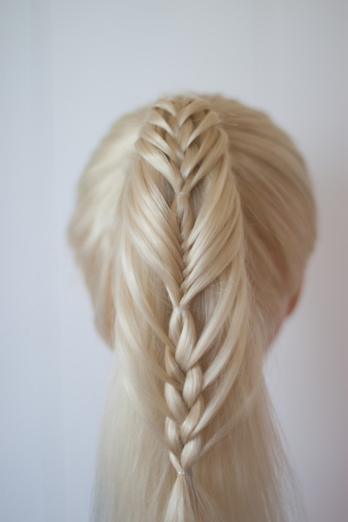 combo braided ponytail
