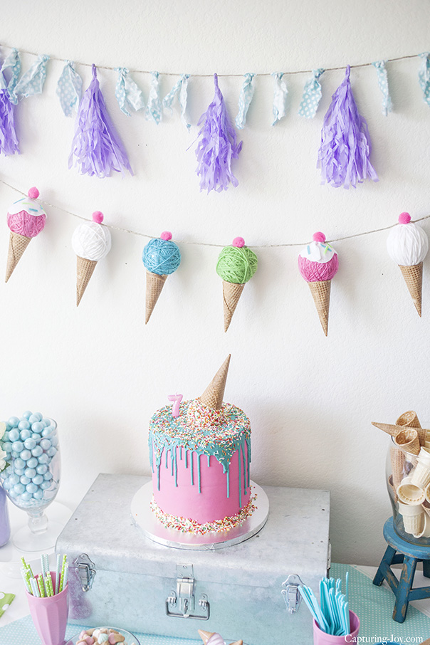 diy ice cream cone banner cute girls hairstyles
