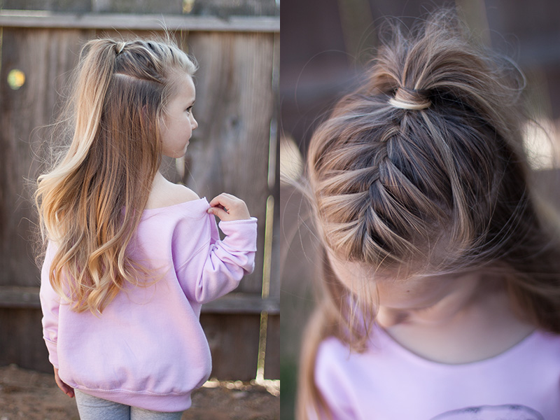 Half up french braid | High ponytail | CGH Lifestyle