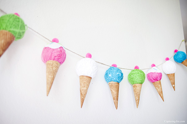 Yarn Ice Cream Banner