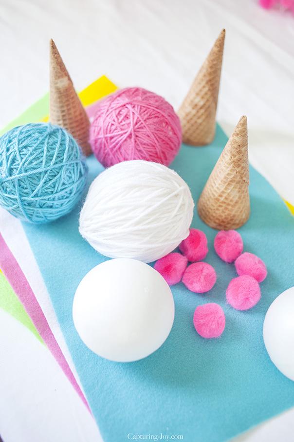 Ice Cream Cone Banner Supplies   CGH Lifestyle