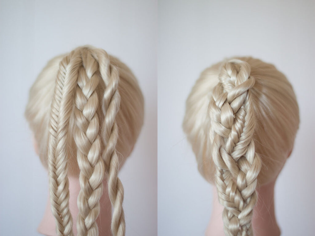 braided braid ponytail
