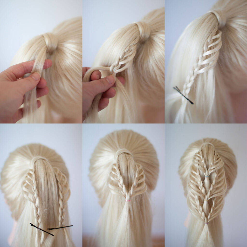 triple lace braided ponytail