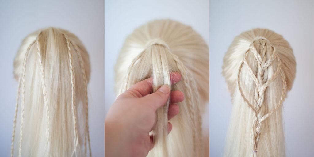 micro braided ponytail