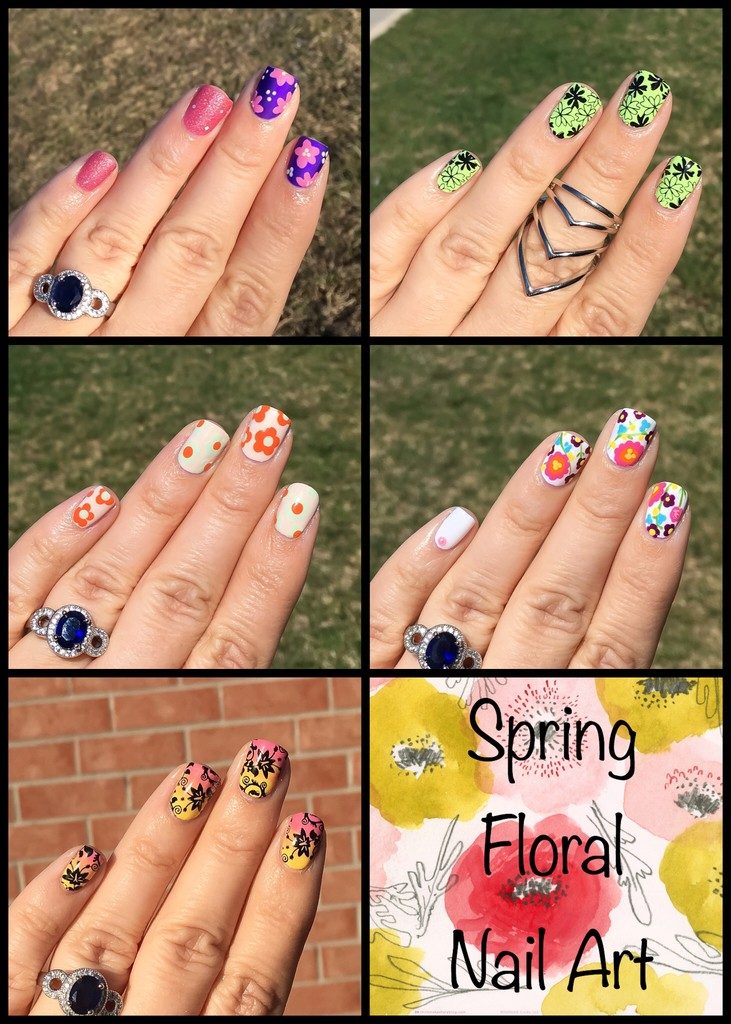 Floral Nail Art Spring Summer Cute Girls Hairstyles