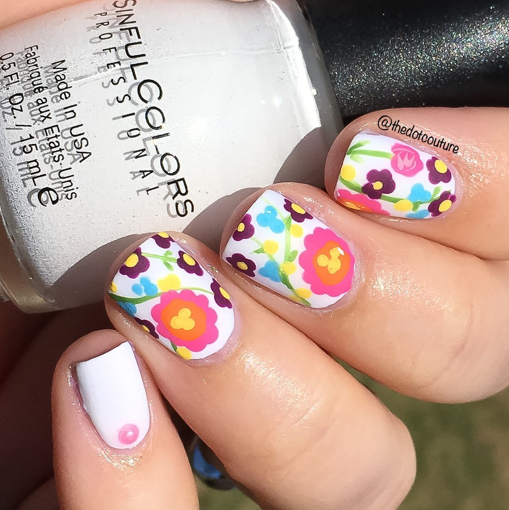 Floral Nail Art | Matte Finish