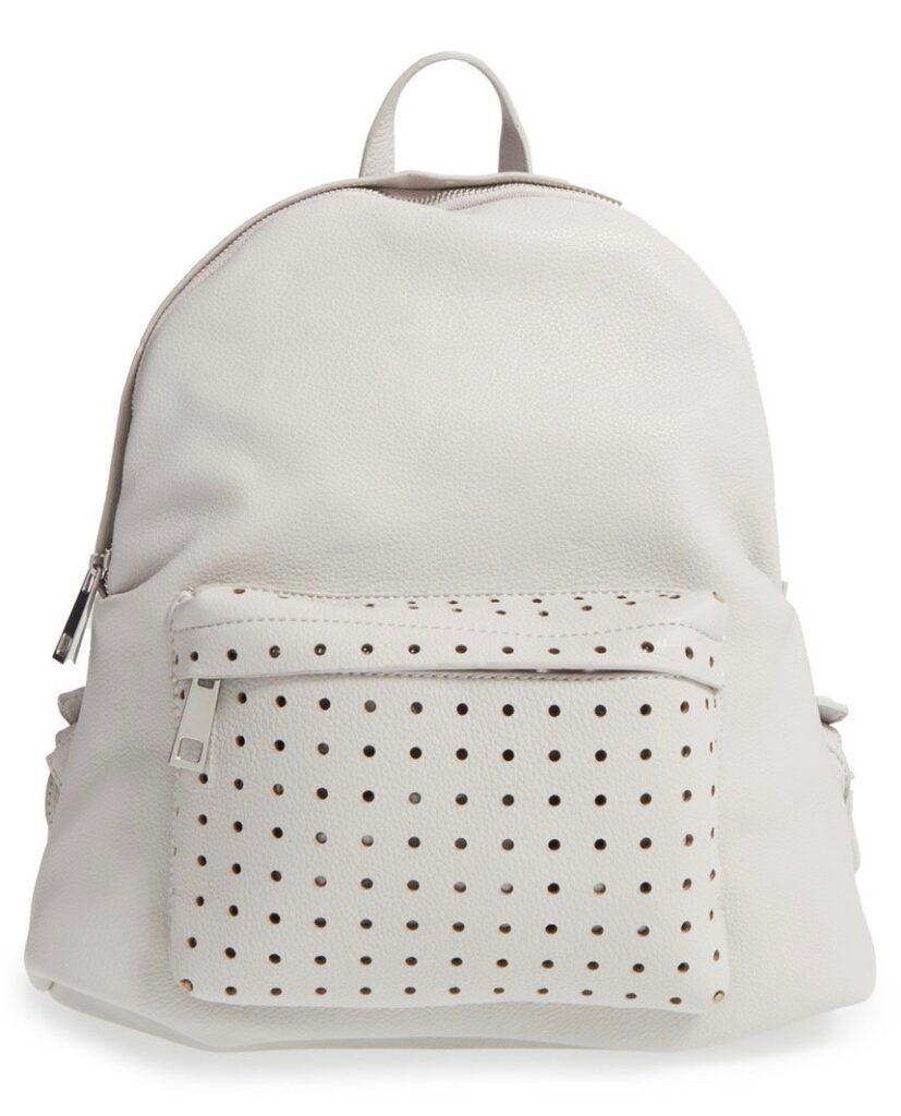 Grey leather backpack | CGH Lifestyle