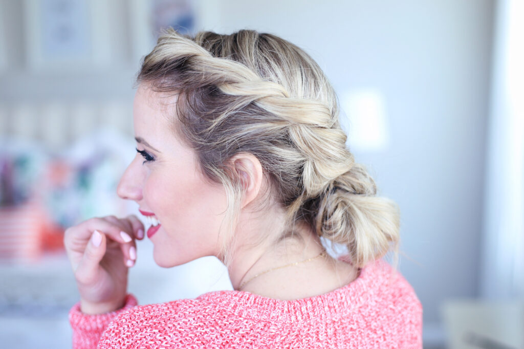 Twist-back Messy Bun | Cute Girls Hairstyles