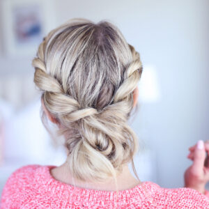 Twist-back Messy Bun | Cute Girls Hairstyles