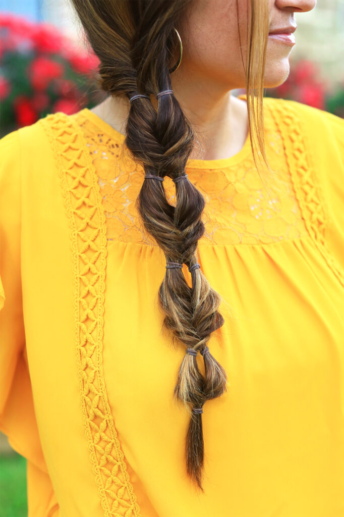 Double Bubble Fishtail   Cute Girls Hairstyles
