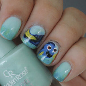 Finding Dory inspired nails