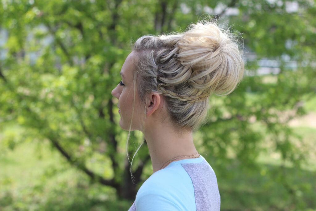 Waterfall Bun | Cute Girls Hairsytles