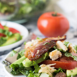 Chicken BLT Salad makes a great lunch or even dinner! It's full of flavor and easy to make!