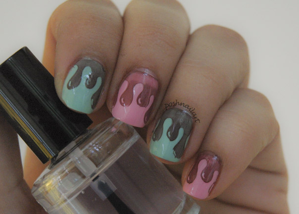 Dripping Ice Cream Nails | CGH Lifestyle