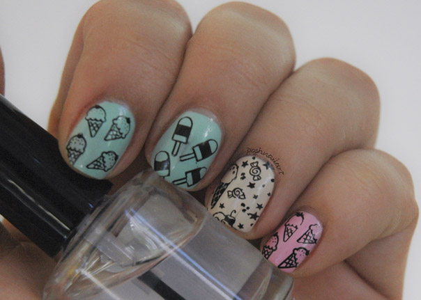 Ice Cream Stamped Nails | CGH Lifestyle