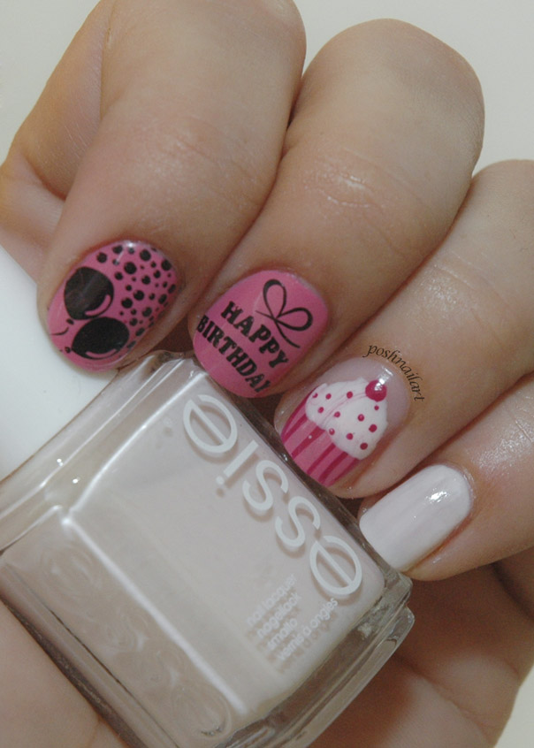 Birthday Nails with cupcake   CGH Lifestyle