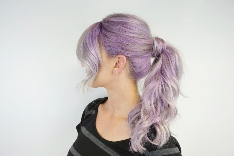 Hair Extensions | Clip in Hair | Ponytai | Purple Hair | Lavendar Hair | Clip in Ponytail
