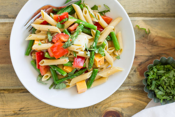 This Penne and Asparagus Pasta Salad is fresh, full of flavor and easy to make!