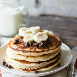 Blender Pancakes-easy to make and fun to add your favorite pancake toppings!