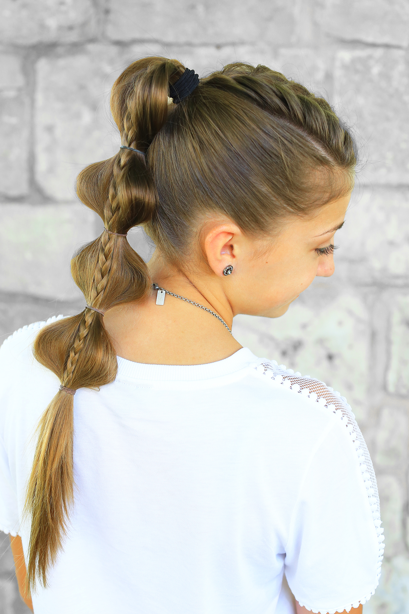 bubble hairstyles braid cute stacked hair cutegirlshairstyles hairdos visit young cgh saved