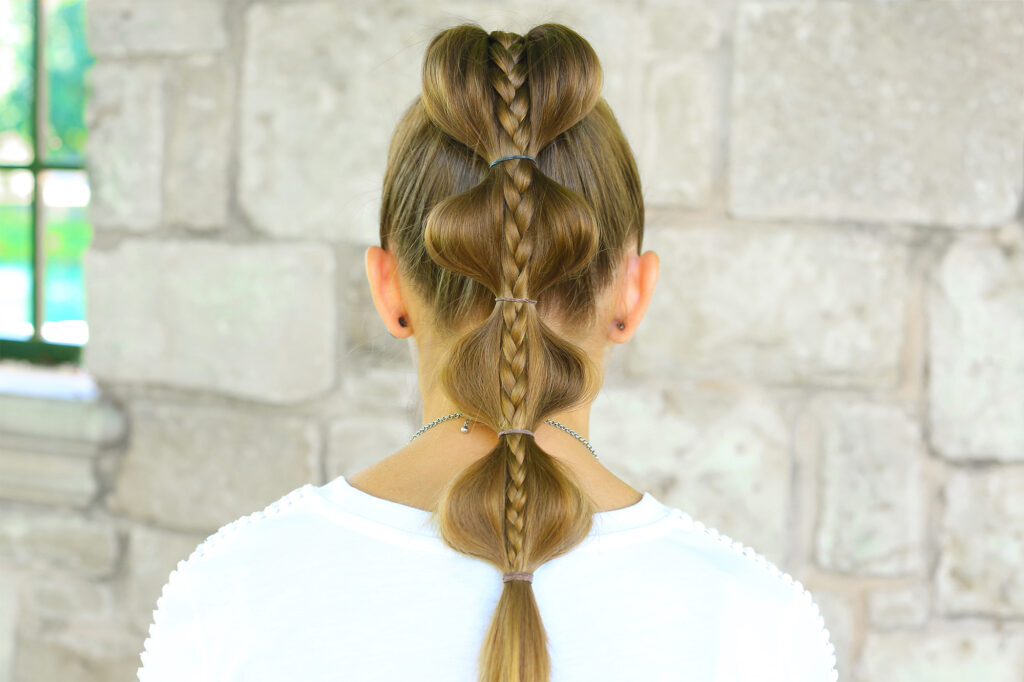 Stacked Bubble Braid | Cute Girls Hairstyles