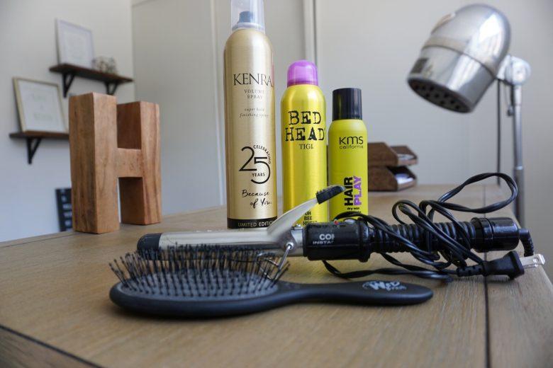 Hair Spray   Spray Wax   Wet Brush   Conair   Curling Iron   Dry Shampoo   Hair Products