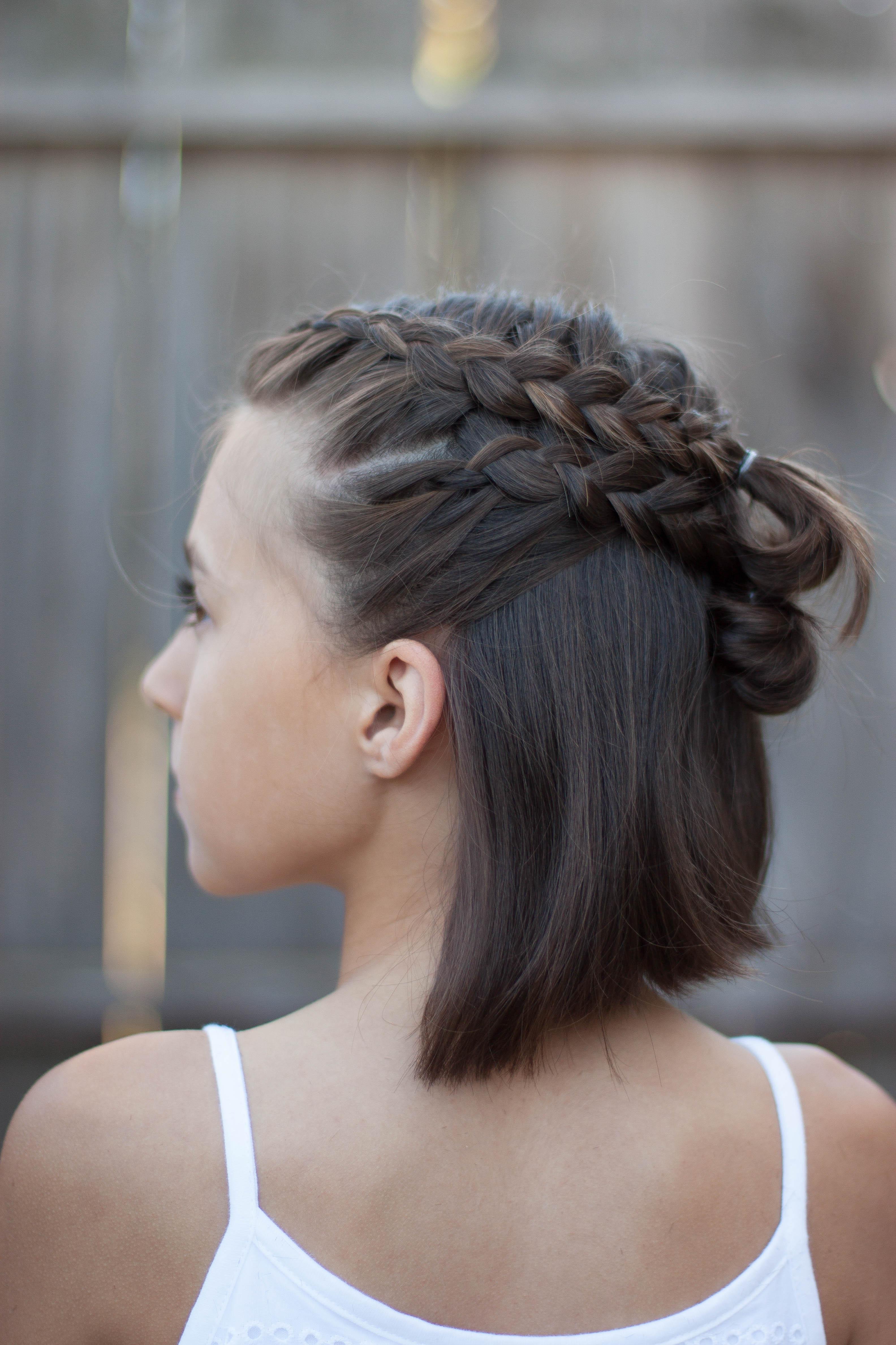 Double Braid Tieback | Cute Girls Hairstyles - YouTube |Pretty Braids For Girls