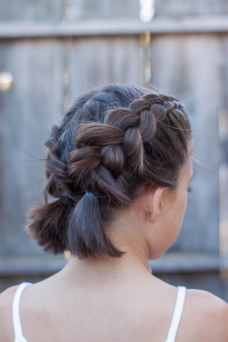 Французские косички на короткие волосы прически фото
