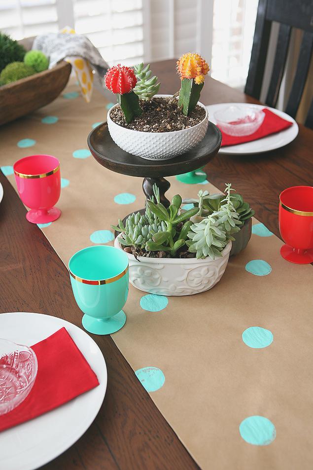 DIY Kraft Paper Table Runner | CGH Lifestyle