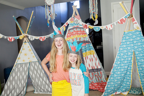 Teepee party and feather headdress