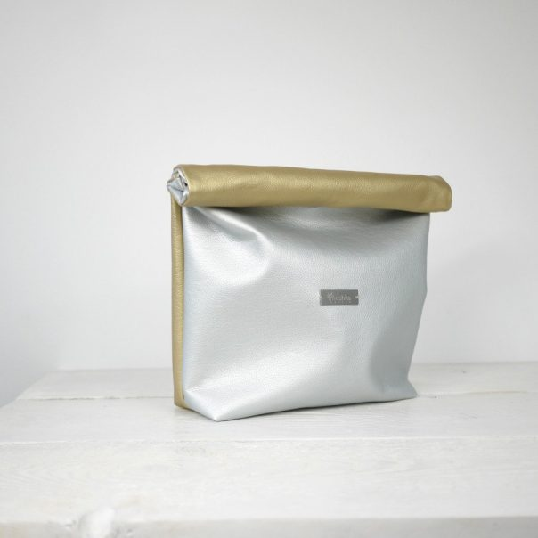 meshkadesign silver and gold lunch bag | CGH Lifestyle