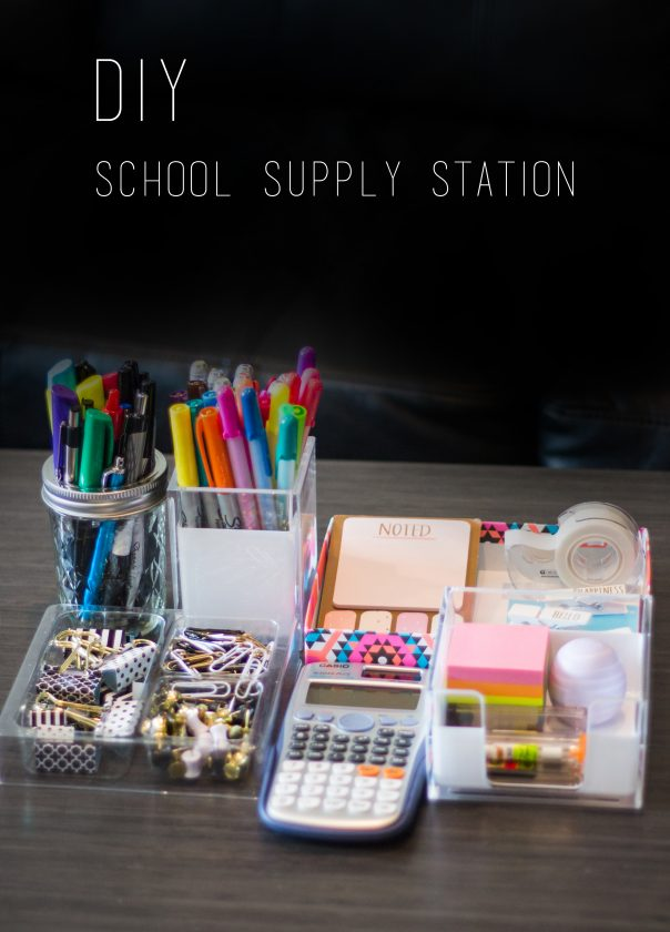 DIY School Supply Station   CGH Lifestyle